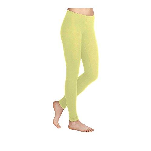 Leggins amarillos de lycra para mujer