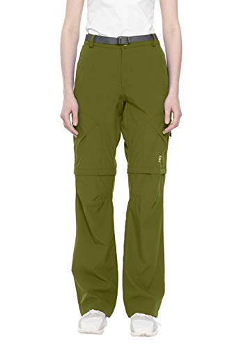 Little Donkey Andy Women's Stretch Convertible Pants Zip-Off Quick Dry Hiking Pants Olive Size XXL