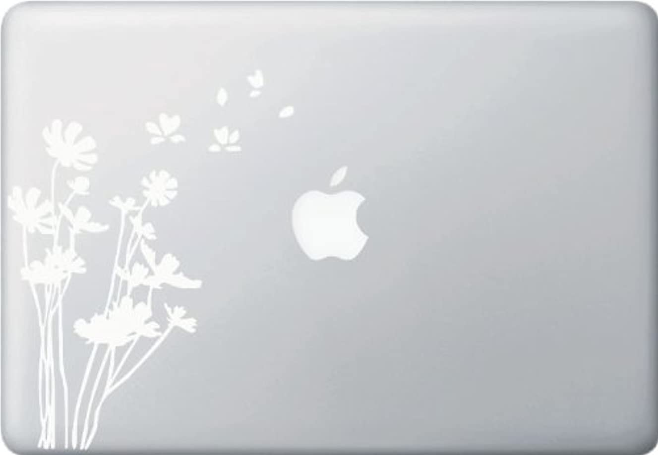 Yadda-Yadda Design Co. Flowers in the Wind - Macbook or Laptop Vinyl Decal Sticker (White)