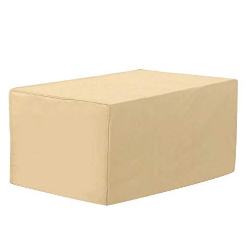chlius Funda para muebles de jardín, impermeable, resistente al polvo, tela Oxford 420D, rectangular, resistente al viento, anti-UV, cubierta protectora para mesa de jardín, 122 x 76 x 46 cm