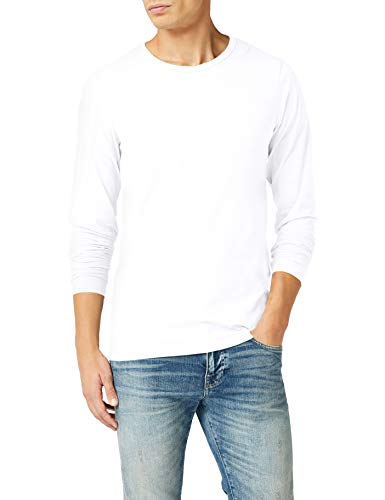 JACK & JONES Herren Langarmshirt 12059220 Basic O-Neck Tee, Einfarbig, Gr. XX-Large, Weiß (OPT WHITE)