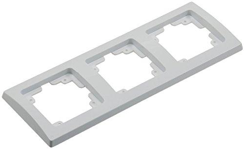 DELPHI 3-fach Rahmen Abdeck-Rahmen für Längs- und Quermontage Weiß