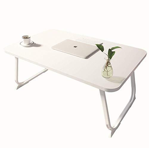 L STYLE 折り畳みテーブル ローテーブル ラップトップテーブル アウトドアテーブル 座卓 ピクニックローデスクテーブル 折りたたみ 大容量表面 多機能 軽量 学習屋外釣りBBQ (ブラック 60X40X28cm) (ホワイト)