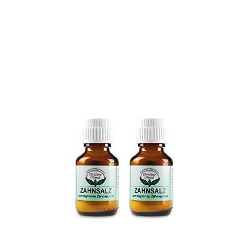 CHRISTIANE AANSCH tandzout (2 x 50 g) veganistisch, natuurlijke cosmetische tandverzorging tegen tandsteen en karieten, milde slijtage met madrell zout (remineraliserend), versterkt de tandsmelt, met phoasphat
