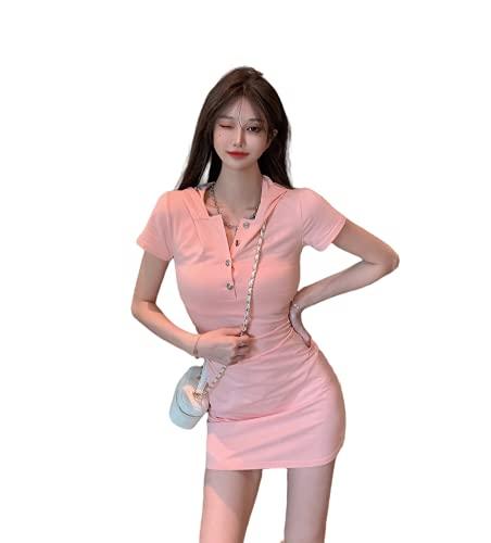 Dames zomer hooded T-shirt jurk ademende tennis golf jurk tas heup slanke jurk