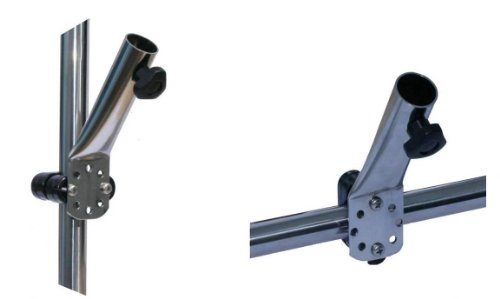 Flaggenstockhalter Edelstahl mit Plastik-Schelle 22mm ARBO-INOX