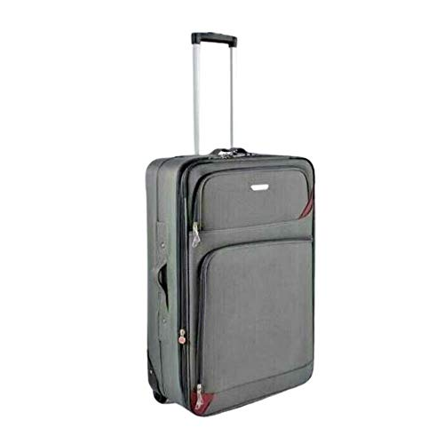 Super Lightweight Durable Hold Travel Luggage Trolley Suitcase (Grey, 20)