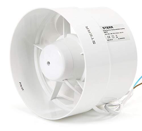 STERR - Extractor en línea con ventilador de conductos silenciosos 150 mm - IDM150