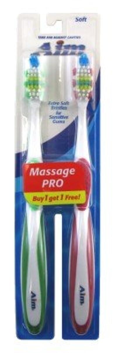 テンション実行プランターAim Toothbrush 2's Bogo Soft (並行輸入品)