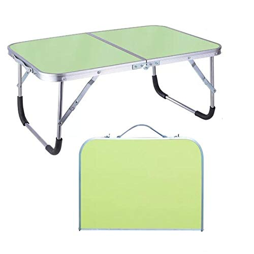 Folding Adjustable Portable Laptop Table Stand Computer Reading Desk Bed Tray For bed-Army Green