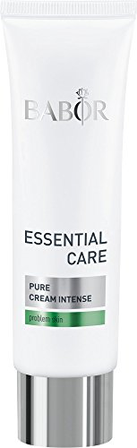 BABOR ESSENTIAL CARE Pure Cream Intense, klärende Anti-Pickel Gesichtspflege, für unreine Haut, erfrischter Teint, vegan, 50 ml