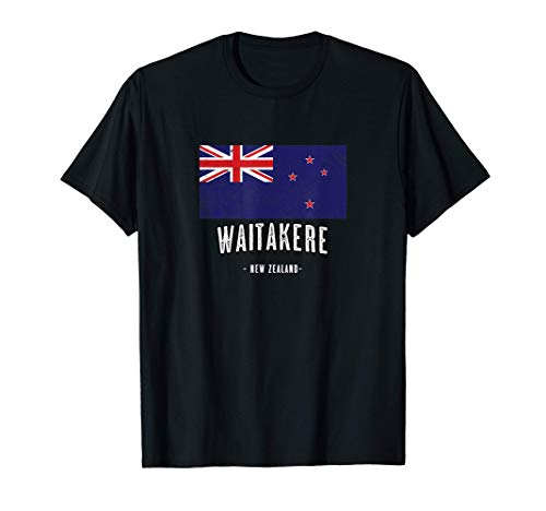 Stadt von Waitakere - Neuseeland | NZ Flagge - New Zealand - T-Shirt