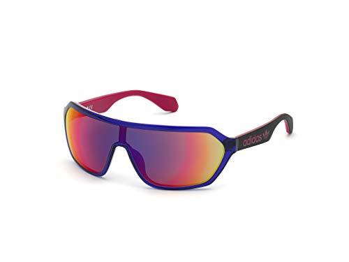 adidas Unisex-Erwachsene OR0022 Sonnenbrille, Shiny Violet/Bordeaux Mirror, 00