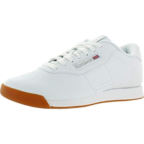 Reebok Women Princess Running Shoe, White/Gum, 9