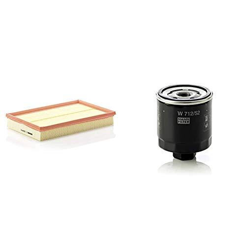 Original MANN-FILTER Luftfilter C 2998/5 X – Für PKW & Ölfilter W 712/52 - Für PKW
