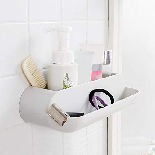 ZUOLH Nagelvrij Wand Gemonteerd Wasruimte Opslag Rek wandplanken Geen Trace Sticker Badkamer Shampoo Houder Organizer Bevat Plank