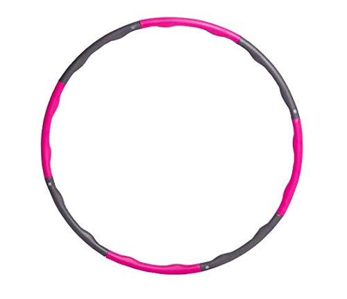 Mailier Fitness-Hula-Hoop-Reifen für Erwachsene, Gewichtsverlust, schnelles Training, Reisen, Workout, Fettverbrennung, gesund, abnehmbar und größenverstellbar, 900 g, Pink+Grau