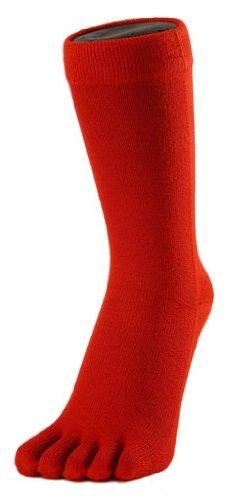 Toe Toe Des chaussettes doigts classiques rouges