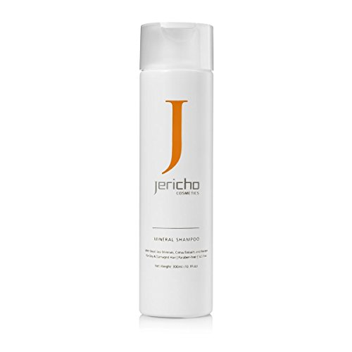 Mineral Shampoo for Dry & Damaged Hair by Jericho - Offers a nourishing blend of Dead Sea minerals, Argan and Jojoba oil to strengthen the hair structure and maintain its color