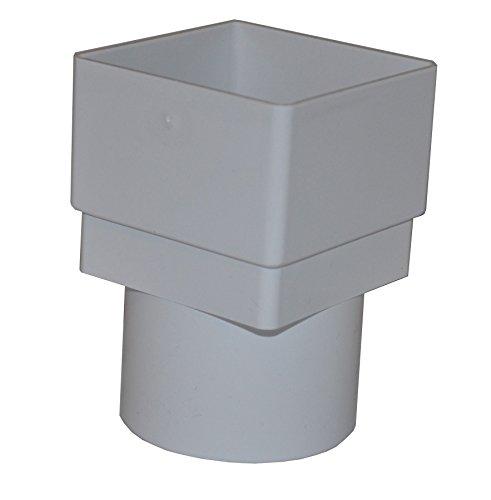 Quadratischer auf runder Fallrohradapter, Weiß