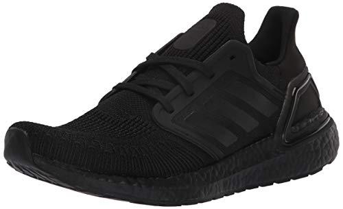 adidas Women's Ultraboost 20 Sneaker, Black/Black/Solar Red, 8