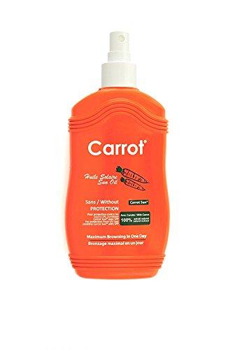 Carrot-Sun ® Bräunungsbeschleuniger Spray Bräunungsspray mit Karottenöl, L-Tyrosin und Henna für eine goldbraune und schnelle Bräunung! 200ml