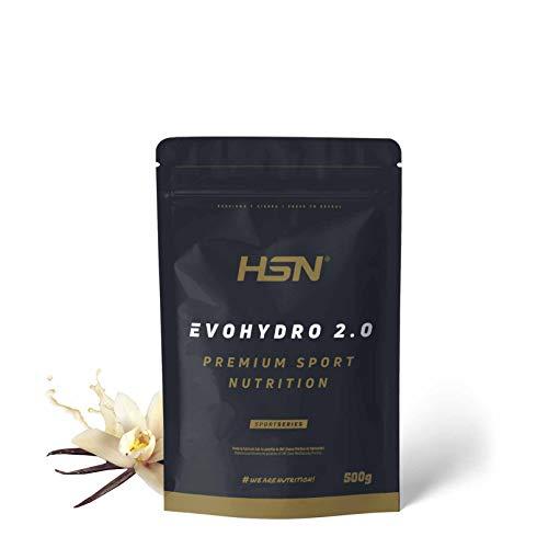 Proteína Hidrolizada de Suero de HSN Evohydro 2.0   Hydro Whey   A partir de Whey Protein Isolate   Rica en BCAAs y Glutamina   Proteína Vegetariana, Sin Gluten, Sin Lactosa, Sabor Vainilla, 500g