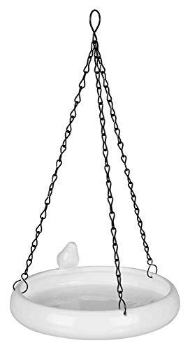Trixie 55629 Vogeltränke hängend, Keramik, 500 ml/ø 21 cm, weiß