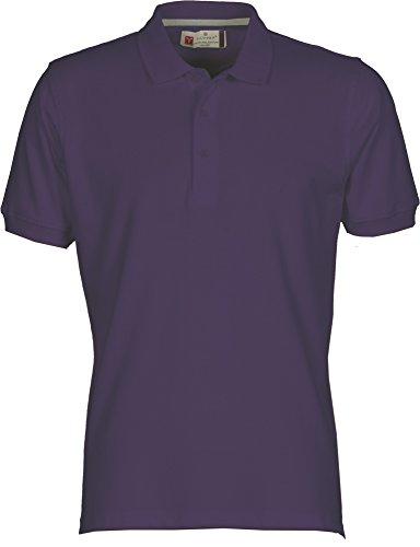 Payper Polo Homme Venice Coton Taille s à 5XL Manches Courtes col 3 Boutons - Violet - L