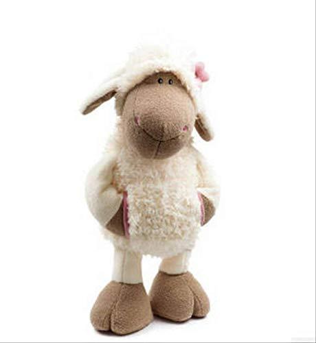 SongJX-Love Neue Nette Plüschspielzeug Kreative Tasche Weiße Lucy Sheep Doll 35cm, Nette und realistische Schafe Plüsch Puppe Kinder Urlaub Geburtstagsgeschenk Jack Pferd Gzzxw
