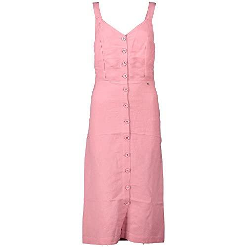 Superdry Damen Eden Linen Dress Kleid, Rosa (Soft Pink 10R), S (Herstellergröße:10)
