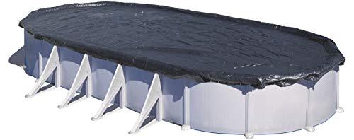 Gre CIPROV611P – Cubierta Extra para Piscinas Ovaladas 610x375 cm y Piscina en Forma de Ocho 500x340, 180 g/m2, Negro