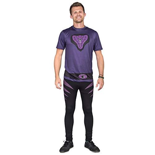 Dodgeball Purple Cobras Adult Halloween Costume Set (Adult Large)