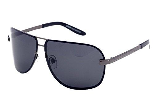 Matrix gepolariseerde zonnebril voor mannen Drivers Vierkante Pilot Ontwerp Vissen Sport Licht Grijs Lenzen Geen Glare Zilver Metalen frame, UV-stralen bescherming