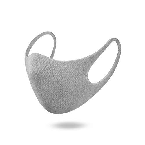 Knitido® Comfy Mask, Wiederverwendbare Maske aus Bio-Baumwolle, pflanzlich gefärbt, zweilagige Stoffmaske, Unisex