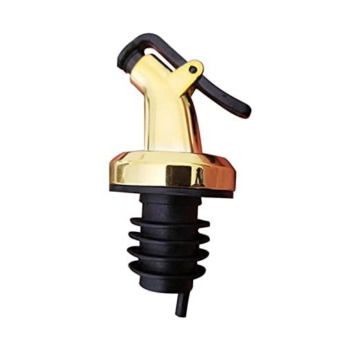Tapón de la Botella de Aceite Tapón de Caucho Bloqueo de Enchufe Sello a Prueba de Fugas Prueba de Alimentos Pasado de Boquilla de Boquilla Trayor Dispensador de Vino Ver 70 (Color : Gold)