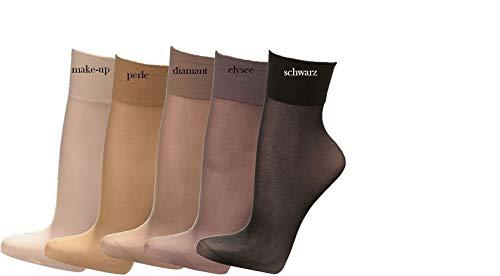 socksPur SOCKS PUR Feinsöckchen, 33 dtex=30den mit extrabreiter Komfortb&. 10er PACK (ONE SIZE, 1820: FEINSÖCKCHEN 30den perle)