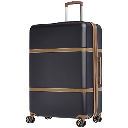 AmazonBasics Vienna Expandable Luggage Spinner Suitcase - 30.7 Inch, Black