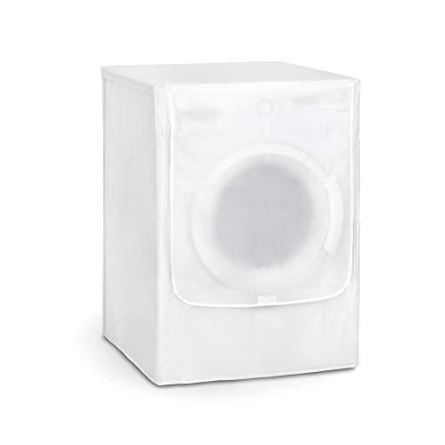 Rayen 2398.11 base caricamento frontale Copertura impermeabile per lavatrice/asciugatrice 84 x 60 x 60 cm | Materiale PVA | Coperchio con chiusura a velcro | Confezione da 8 unità, Peva, Chiaro