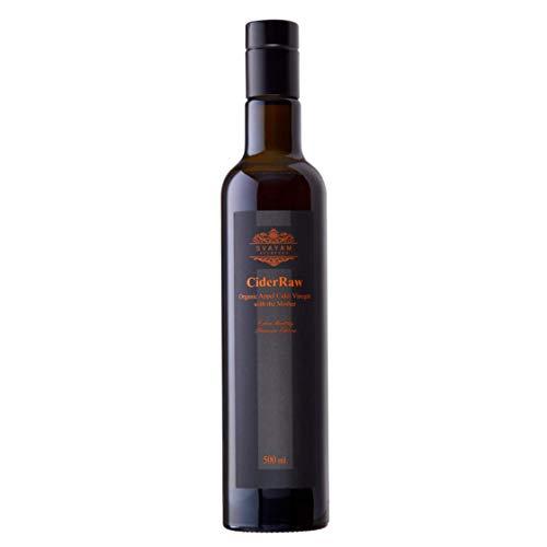 Vinagre Orgánico de Sidra de Manzana 500 Ml, AYURVEDA SVAYAM, Vinagre de Sidra de la Máxima Pureza totalmente Natural de Calidad Premium, Vinagre Orgánico de Sidra de Manzana con Madre