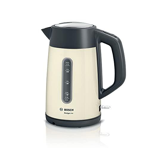 Bosch DesignLine TWK4P437GB Stainless Steel Cordless Kettle,1.7 Litres, 3000W - Cream