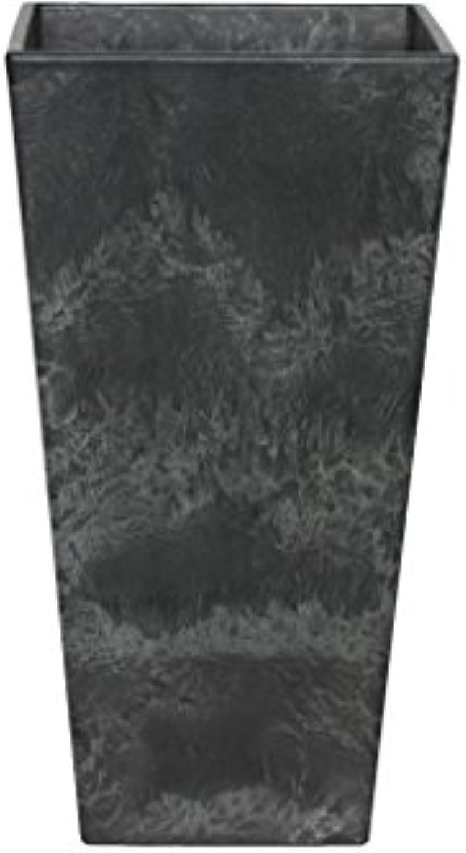Artstone Pflanzgef Pflanzenkübel Ella, frostBestendig und leichtgewichtig, Schwarz, 40x90cm