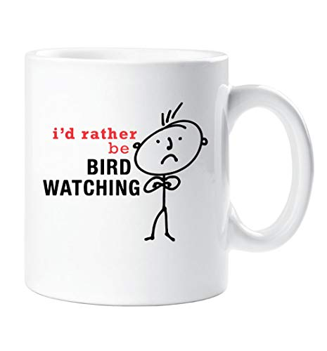 60 Tweede Makeover® Mens Ik zou liever worden Vogel Kijken Mok Papa Vriendje Zoon Cup Cadeau Man