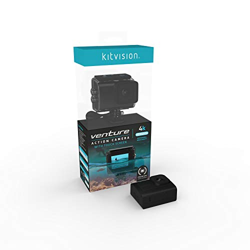 Kitvision Venture 4K Ultra HD Action Camera with WiFi, LCD Display and Waterproof Case - Black