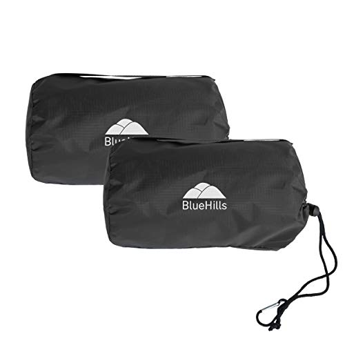 BlueHills Ultra Compact Travel Blanket 2 Pack Large Soft Cozy Portable Blanket Sheet with Carry Case and for Flight Airplane Car Layover Camping Hotel...