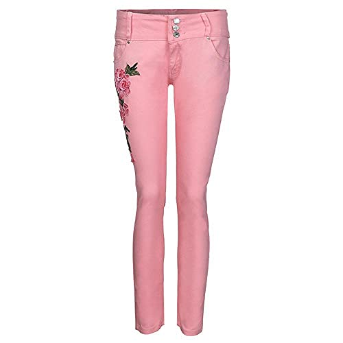 Mujer Ropa Jeans Sexy Skinny Stretch Denim Pantalones Bordados Jeans