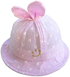 Baby Decoration Hat Baby Kids Bowknot Breathable Mesh Cap Toddler Sun Protection Hat Sun Visor for 6-18 Months(Blue) Cute Cap (Color : Pink, Size : 44-48cm)
