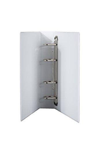 DIN A5 Ordner 4 er Mechanik PVC in weiss 70 mm Rückenbreite, Füllhöhe 50 mm im 2er Pack