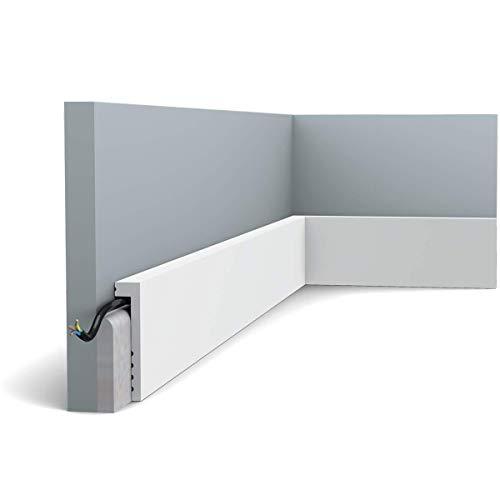 Orac Decor - Pack de 4m SX171 Plinthe Orac Decor - 10x2,2x200cm (h x p x L) - surplinthe décorative polymère