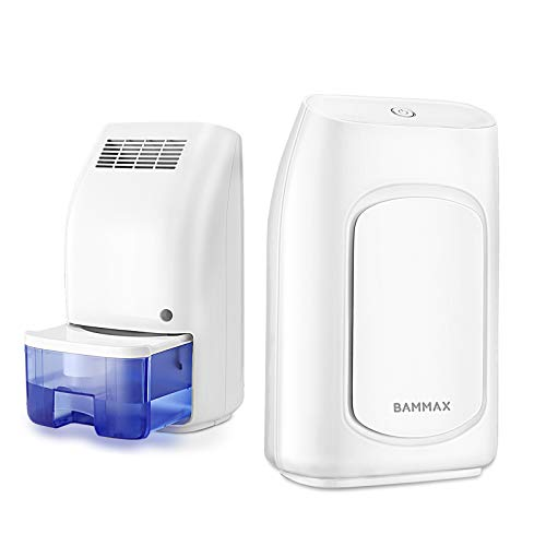 Bammax Dehumidifier, Electric Mini Dehumidifier for Home, Portable and Compact 700ml (24 oz) Capacity Ultra Quiet Small Air Dehumidifiers for Basements, Bedroom, Bathroom, RV, Closet, Auto Shut Off
